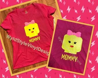 Mommy Lego Woman Shirt