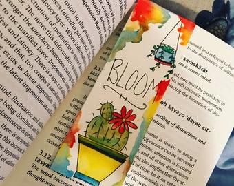 Bloom succulent laminated bookmark