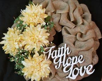 Yellow Dahalia Wreath