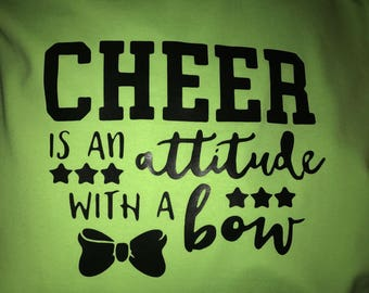 Custom cheer attitude shirt