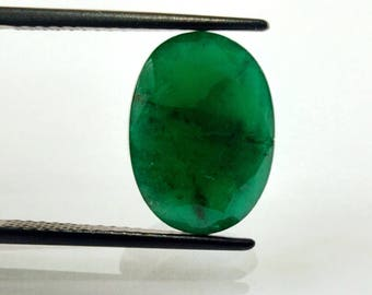 Natural Loose Gemstone Emerald Cut Stone Oval Shape 14.75 Carat Size 15 x 20 x 8 mm