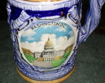 Washington D.C vintage beer stein