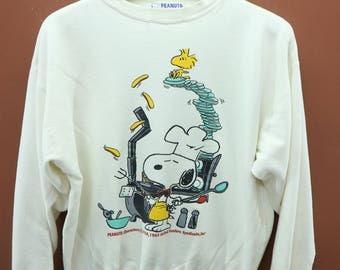 Vintage Snoopy And Woodstock Sweatshirt Peanuts Cartoon Animation Street Wear Sweater