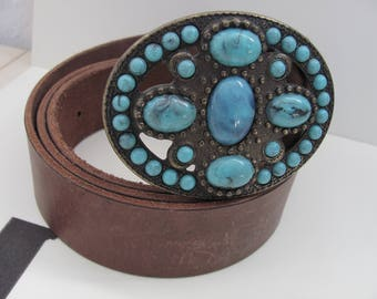 belt turquoise buckle