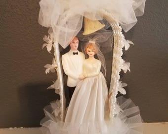 Vintage Mid-Century Modern 1950's Wedding Cake topper