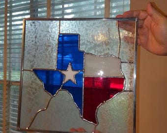 12 X 12 Texas Stained Glass Panel