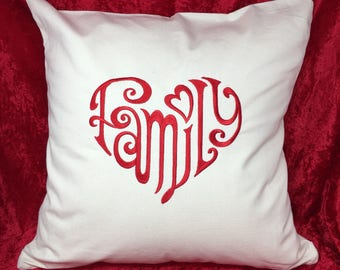 Family of love cushion cover