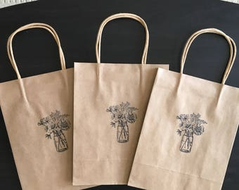 Set of 3 Stamped Gift Bags