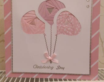 Hand Crafted Christening Card