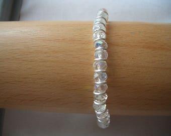 AB clear crystal stretchy bracelet