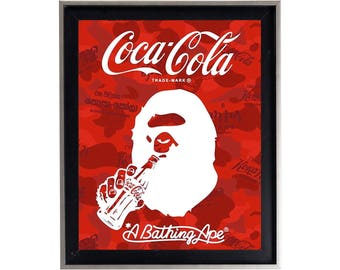 Bape x Coca Cola Poster or Art Print (a bathing ape)