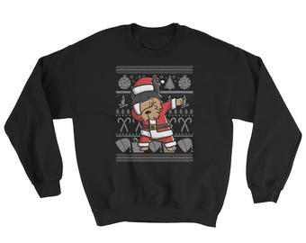 Funny Dabbing Yorkshire Terrier Ugly Christmas Sweater Cute Dog Gift