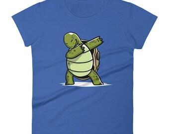 Funny Dabbing Tortoise Shirt, Cute Dab Dance Pet Gift, Tortoise Women's T-Shirt