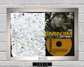 Eminem - Lose Yourself Lyric CD Frame Presentation Memorabilia