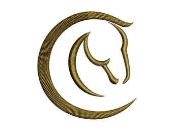 Horse Embroidery Design Horse Head Embroidery Design Horse Outline Horse Head Silhouette Horse Circle Head