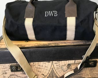groomsman gift, monogrammed duffel bag, duffle bag, personalized travel bag, ring-bearer gift,