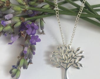 Sterling silver tree of life pendant necklace, pagan, spiritual jewelry, fertility