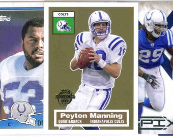 INDIANAPOLIS COLTS Football Team Lot - 200 Assorted Cards