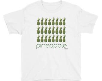 Pineapple Grid T-Shirt - Kids - Foodie - Chef - Organic