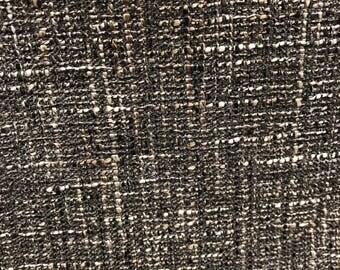"fabric dark grey boucle w54""/yard"