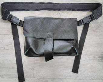 Leather women's belt bag, Fanny Pack, Leather Fanny Pack, Waist Bag, Belt Bag, Hip Bag, Black leather belt bag, Leather Waist Bag,Modern bag