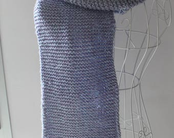 Scarf fringes wool