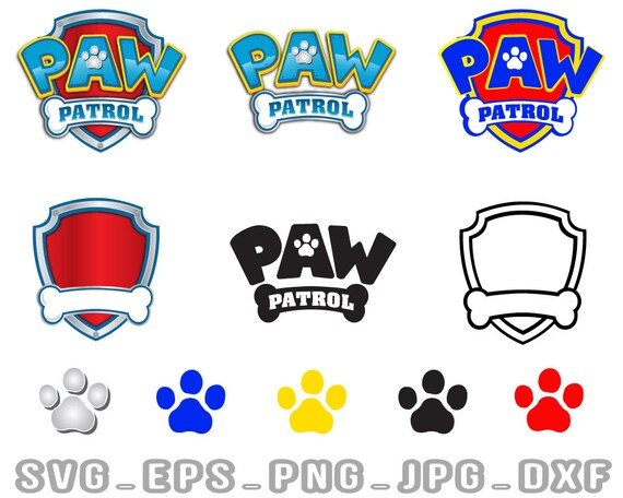Paw Patrol Svg Patrol Svg Paw Files Svg Eps Dxf Png