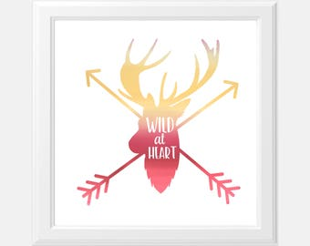 Wild at Heart Foil Print