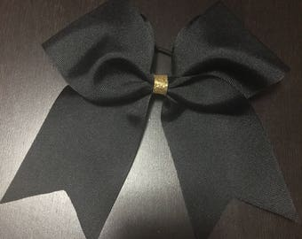 Black Cheer or Dance Bow