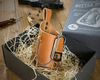 Bottle Holster | Leather | Incl. gift Wrapping
