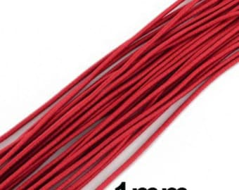 20 meter Elastic Cord Nylon 1mm,Cord Sewing String Red,Cord Stretch Beading K18