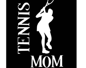 Tennis Mom Vinyl Decal, Car Decal, Tennis, Tennis Ball, Window Decal, Laptop Decal, Yeti, Sports