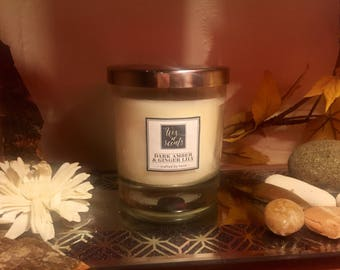Dark Amber & Ginger Lily fragranced candle