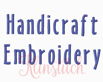 50% Sale!! Handicraft Embroidery Fonts 5 Sizes Fonts BX Fonts Embroidery Designs PES Fonts Alphabets - Instant Download