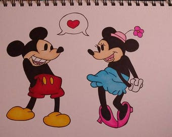Mickey and Minnie classic A4