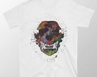 "T-shirt White ""ArtSkull"" Unisex man/woman gift"