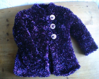 Gilet, Childs Jacket, Childs Coat, Knitted Top, Handmade, Unique