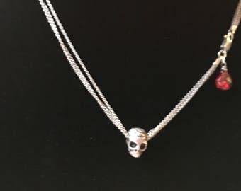 Rose Skull Necklace