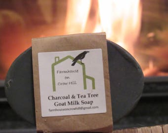 Charcoal & Tea Tree Goat Milk Soap