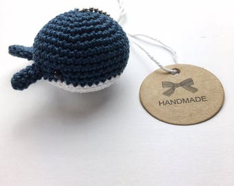 Key fob Whale in desire color keychain handmade