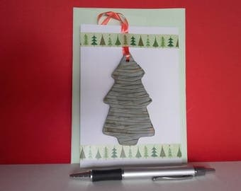 Christmas tree card & decoration, 2-in-1