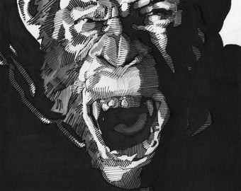 Caesar from Planet of the apes Art Print