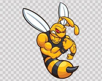 Decals Sticker Bee Hornet Wasp Vespa Motorbike Hobbies 09394
