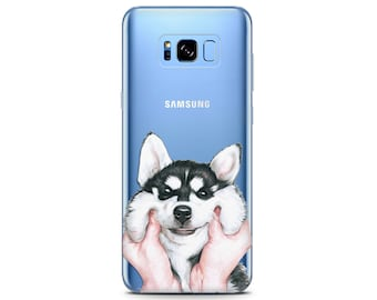Husky phone case cute s8 phone case Dog lover Pixel 2 xl case Dog Husky print LG G6 phone case dog case Samsung s7 Pixel cases clear case