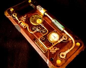 Steampunk, Steampunk Phone case, Custom phone case, fitted phone case, Hand-made phone case, for most phone brands