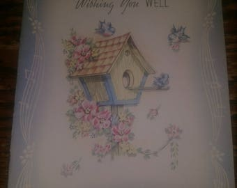 1930s/40s Vintage Wishing You Well Card, Never used, Mint Condition.