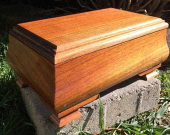 Curved Walnut box, keepsake box