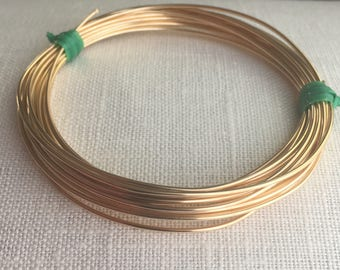 """18ga round half hard 14k gold filled wire 