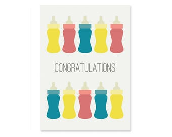 A6 New Baby Greeting Card