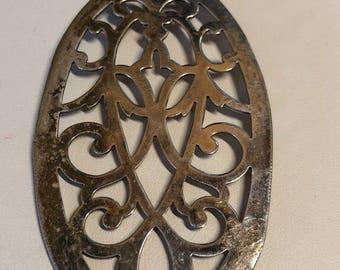 Oval Silver pendant